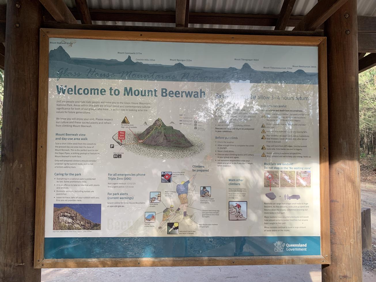 Trail Image for Glass House Mountains National Park: Mt Beerwah View